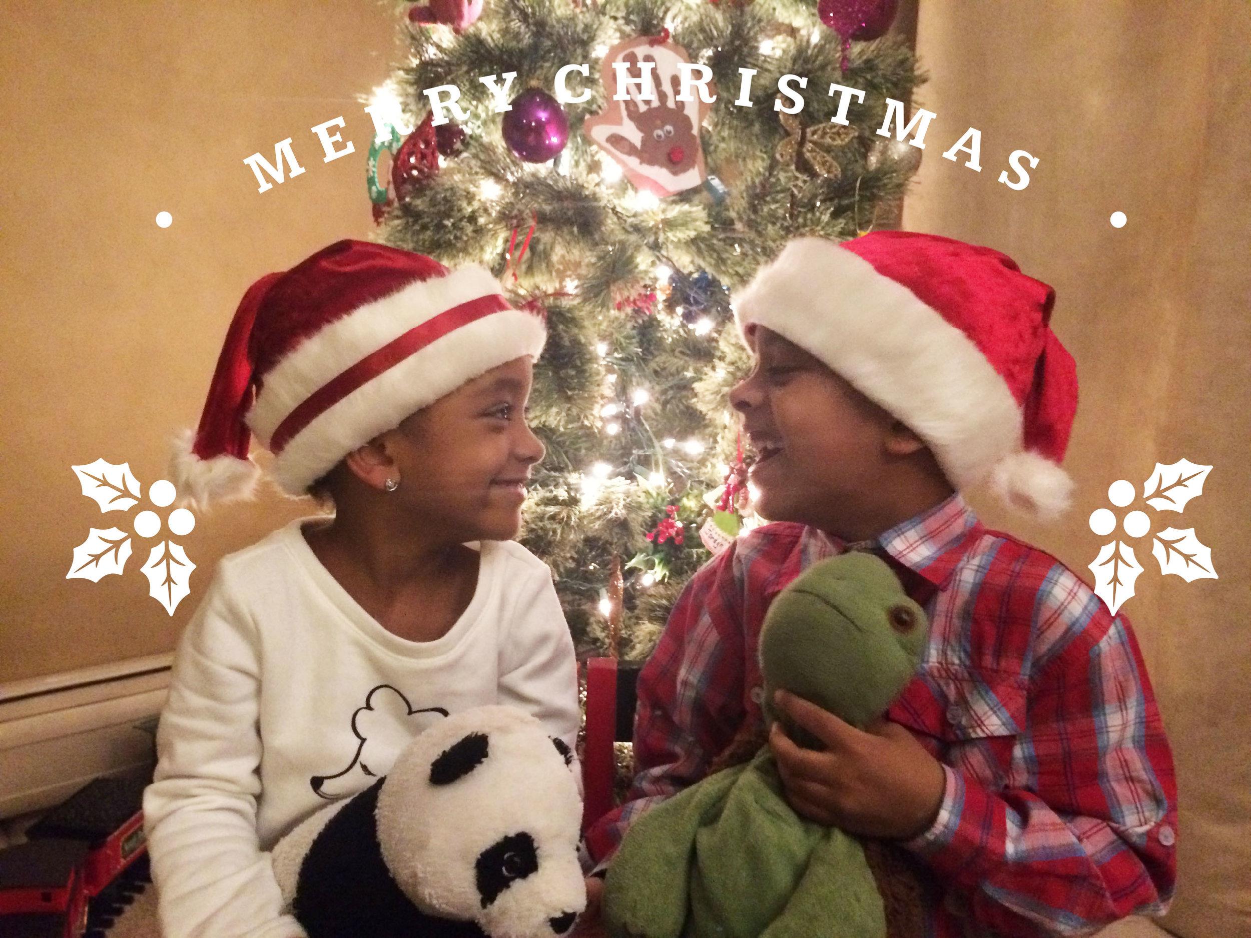 My daughter Jordyn and my son Justin enjoying their hats!