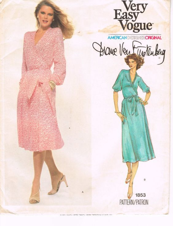 Vintage DVF Wrap Dress Pattern from the 70's
