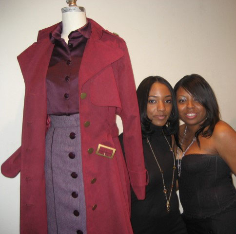 "Part of my college final ""3 Piece Collection"" with my friend Rema and I."