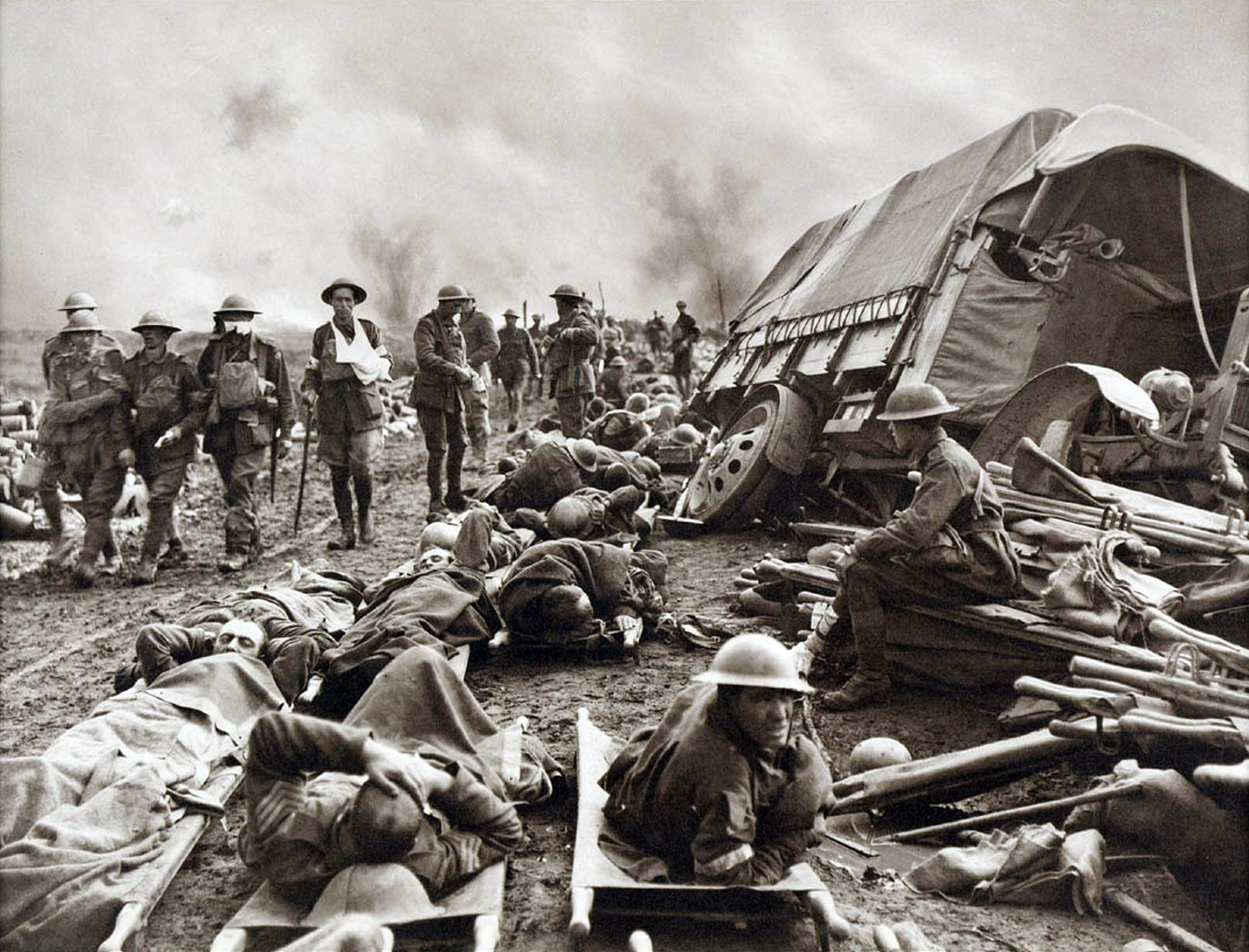 Battle_of_Menin_Road_-_wounded_at_side_of_the_road.jpg