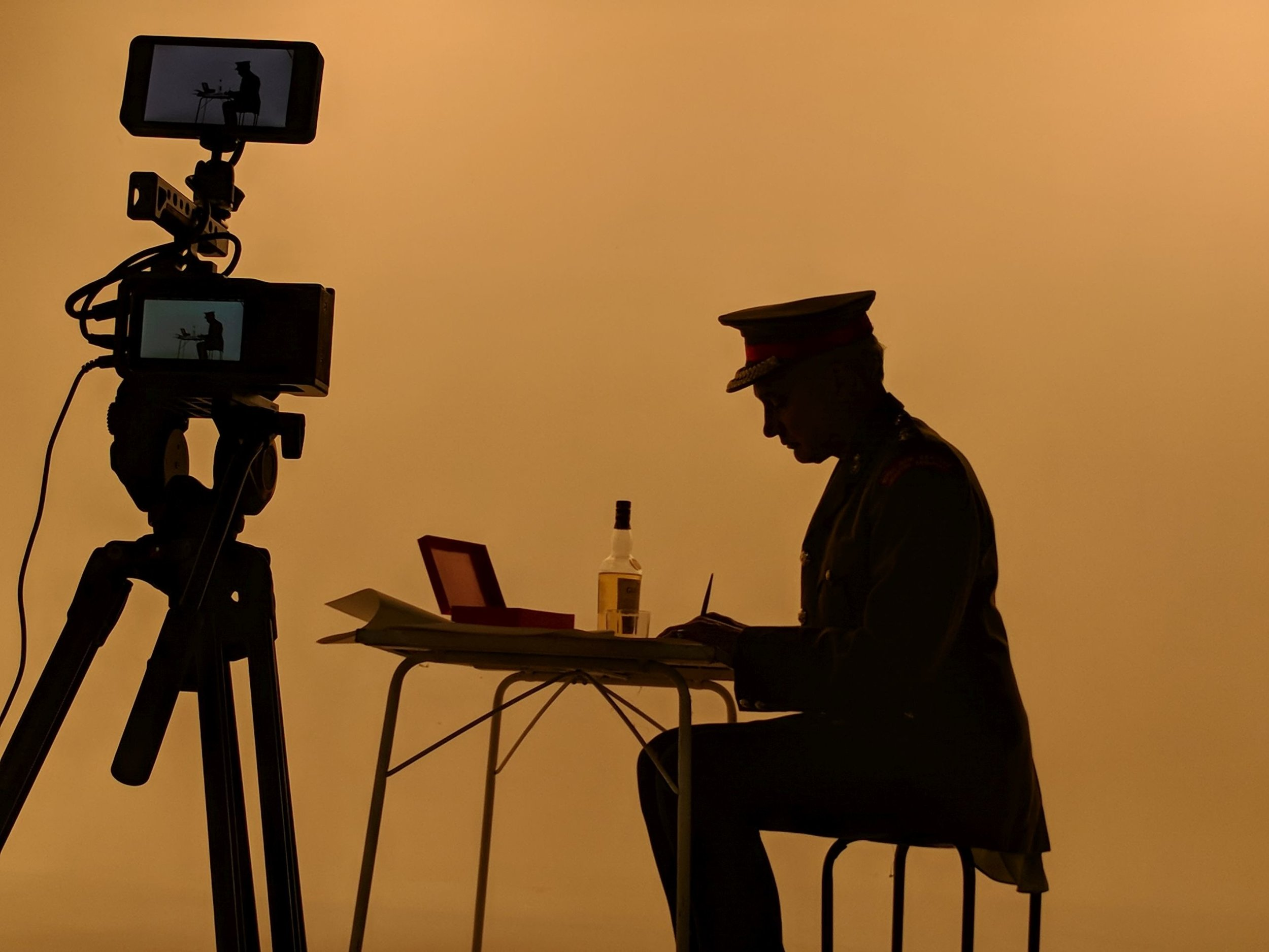 """Behind the scenes of the Story Inc and Dusk """"shadowplay"""" shoot. Photo by Story Inc."""