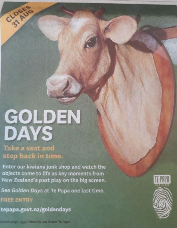 The last of Golden Days: An advertisement from the Dominion Post