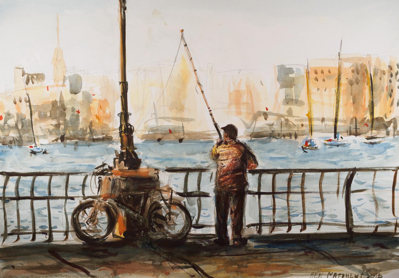 Fisherman, Battery Park, NYC