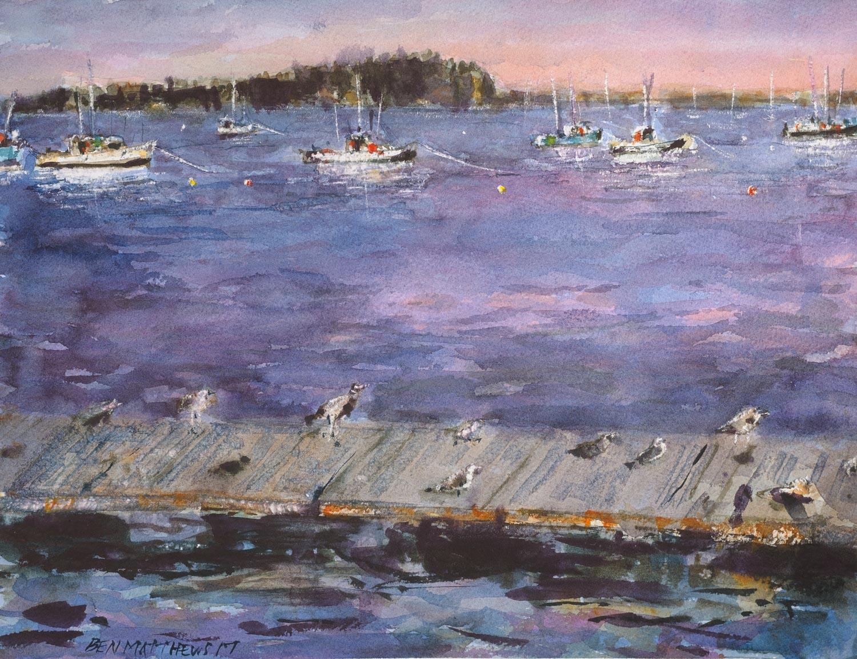 Birds and Boats, Bar Harbor, Maine