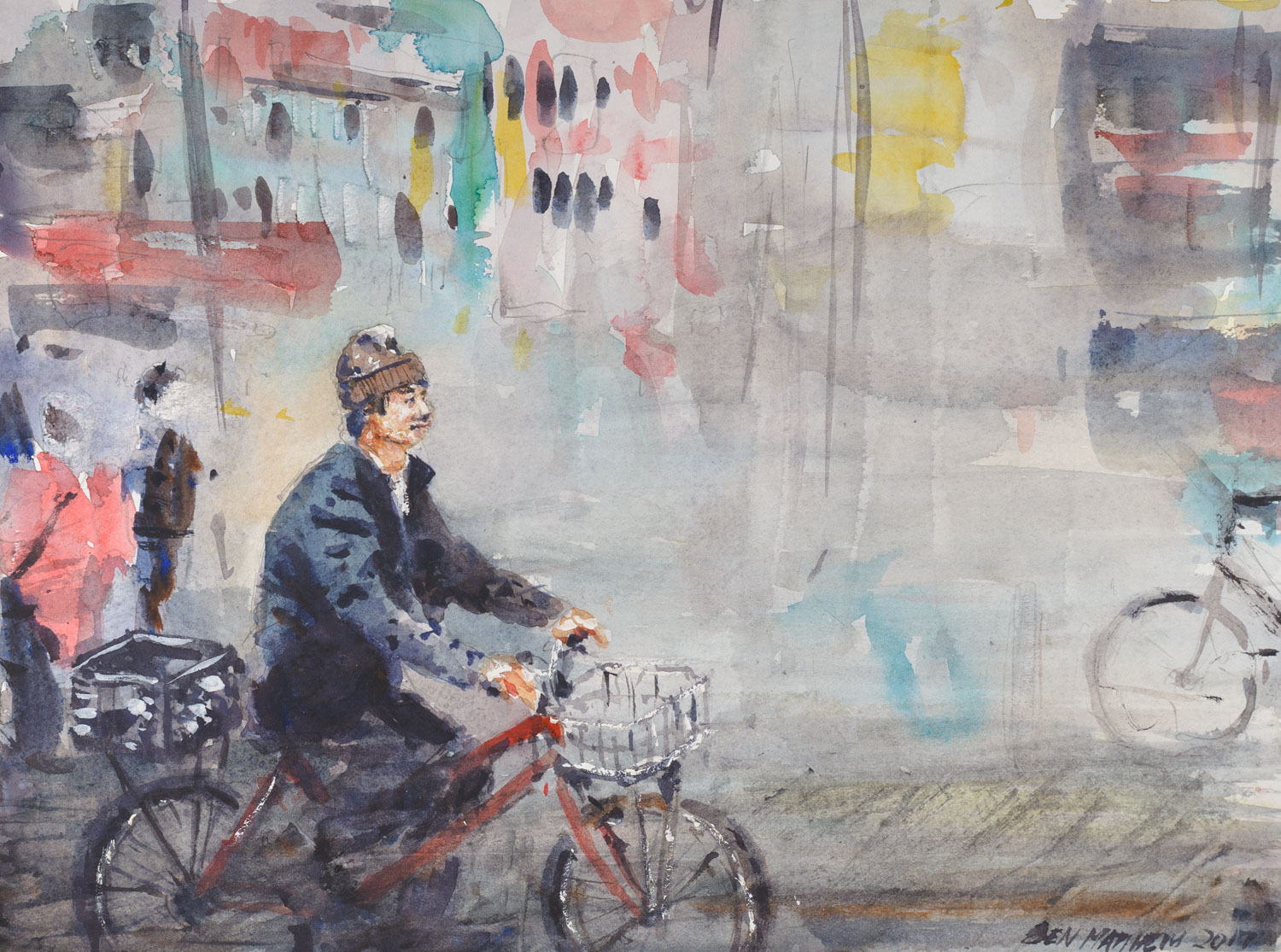 Man on a Bicycle, Chinatown, NYC