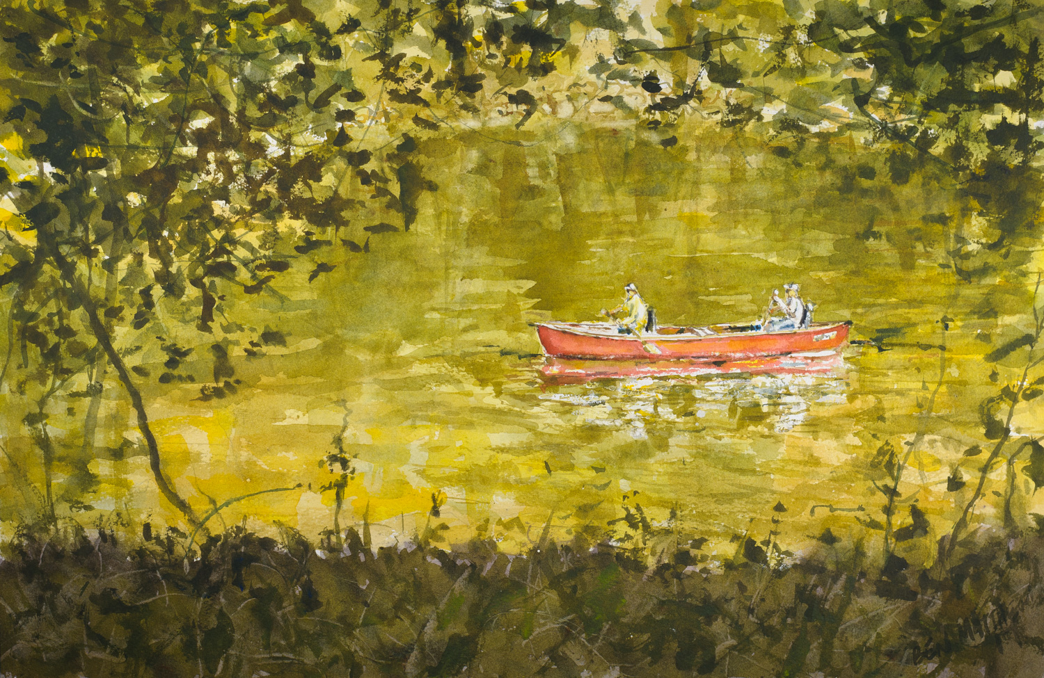 Canoers on the Yough