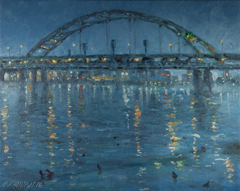 Fort Duquesne Bridge During the Blue Hour