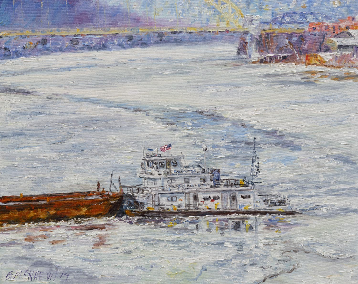 The Grant Wesley Murray on a Frozen Ohio River