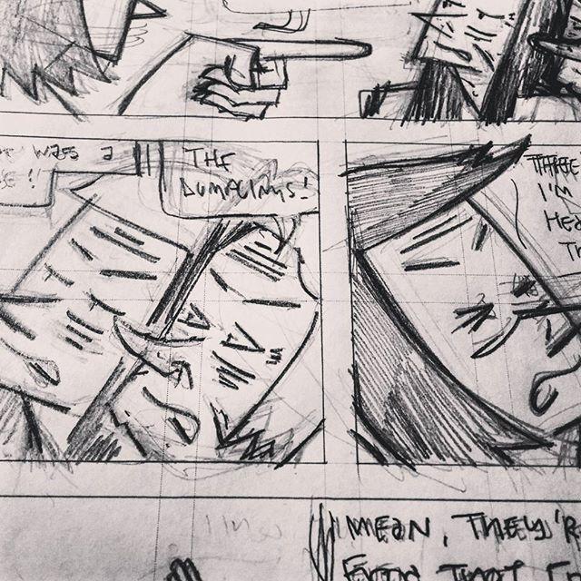 Whining about dumplings. Pencilling the last issue (#10) of Dumpling King! #comics #drawing #dumplings #cartoonist #cartooning