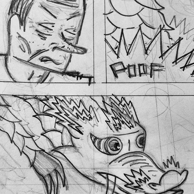 Poof...pencilling Dumpling King 10! #comics #cartoonist #drawing #dumplings #art #cartooning #wip