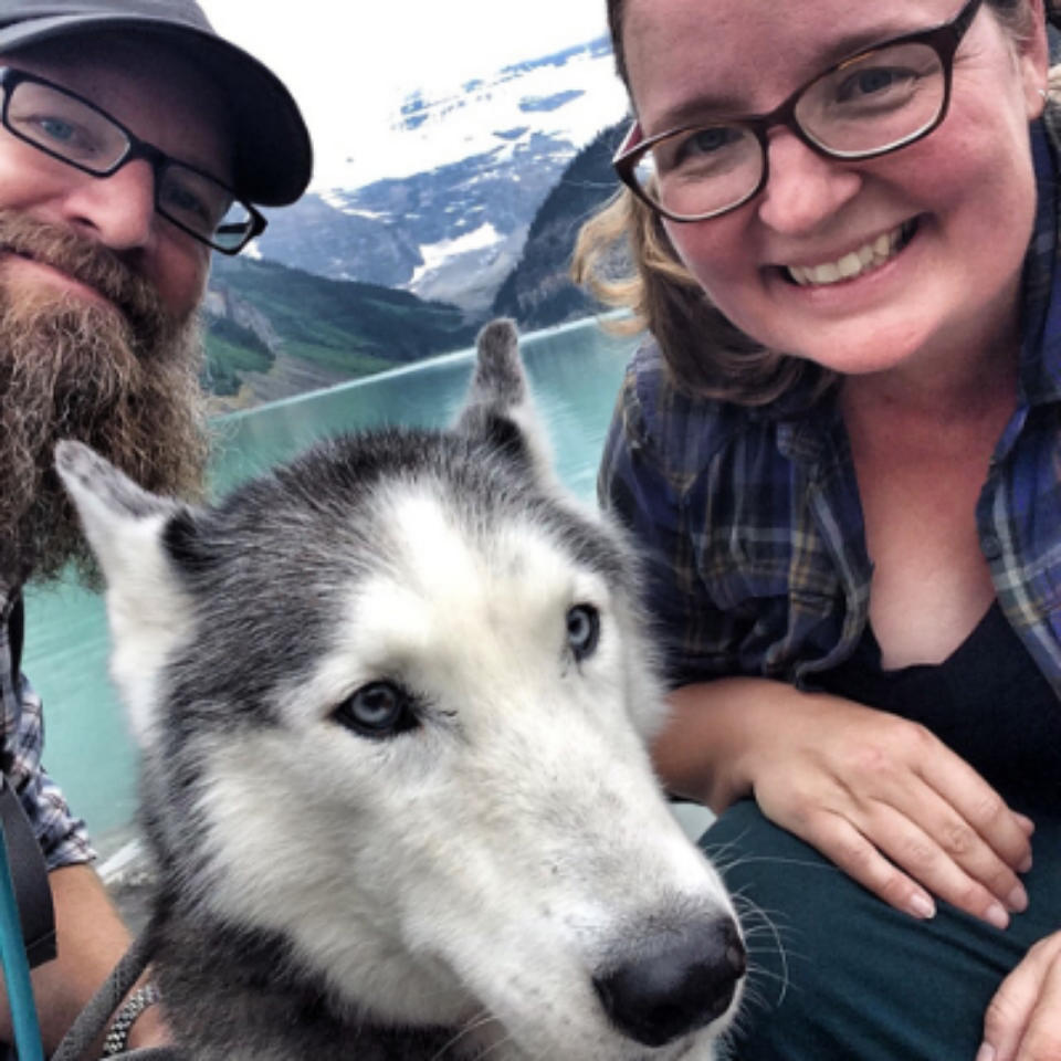 bill, inga and heather at lake louise, banff
