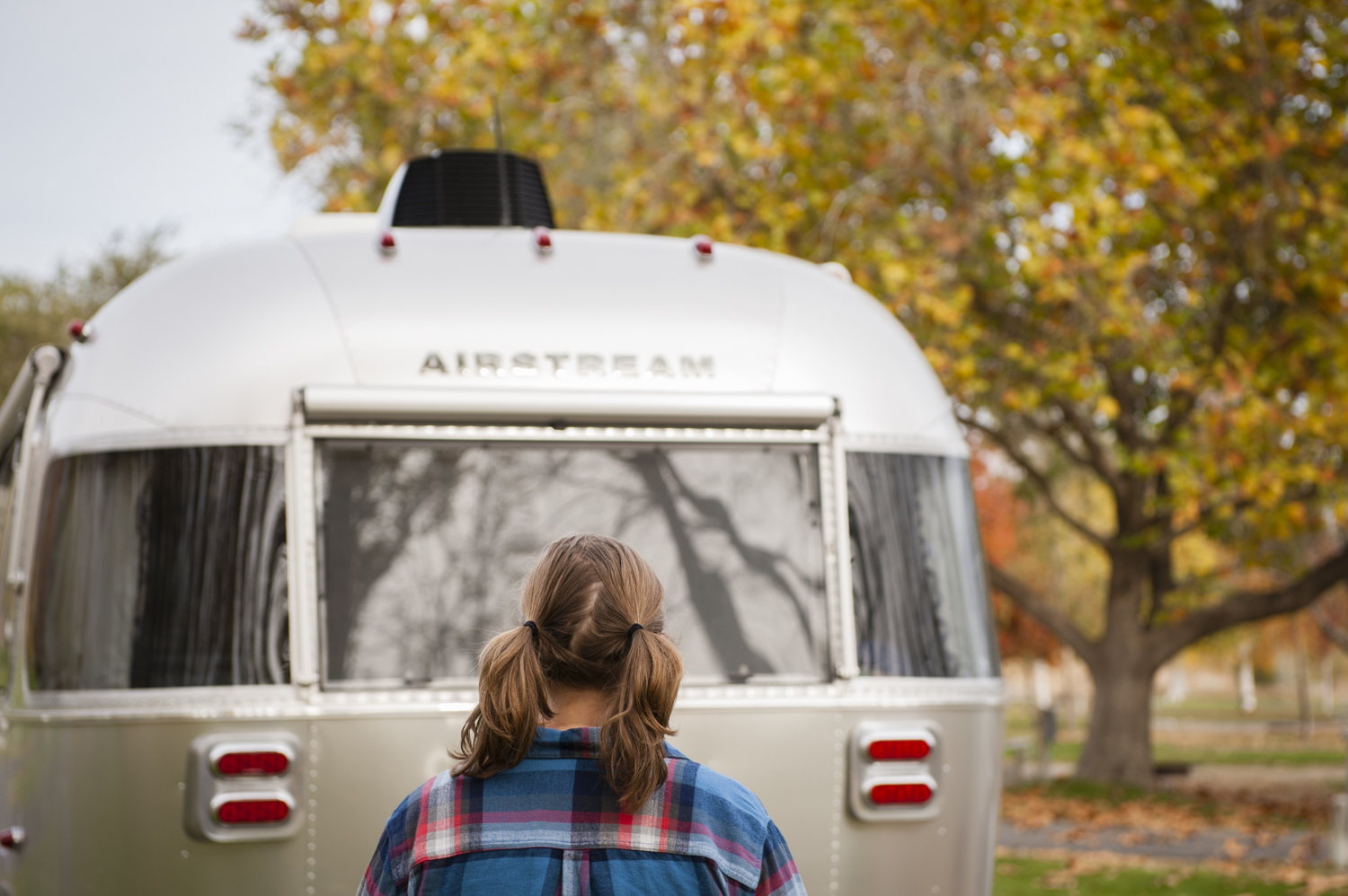 Flannel, Fall Color, and an Airstream just go together!