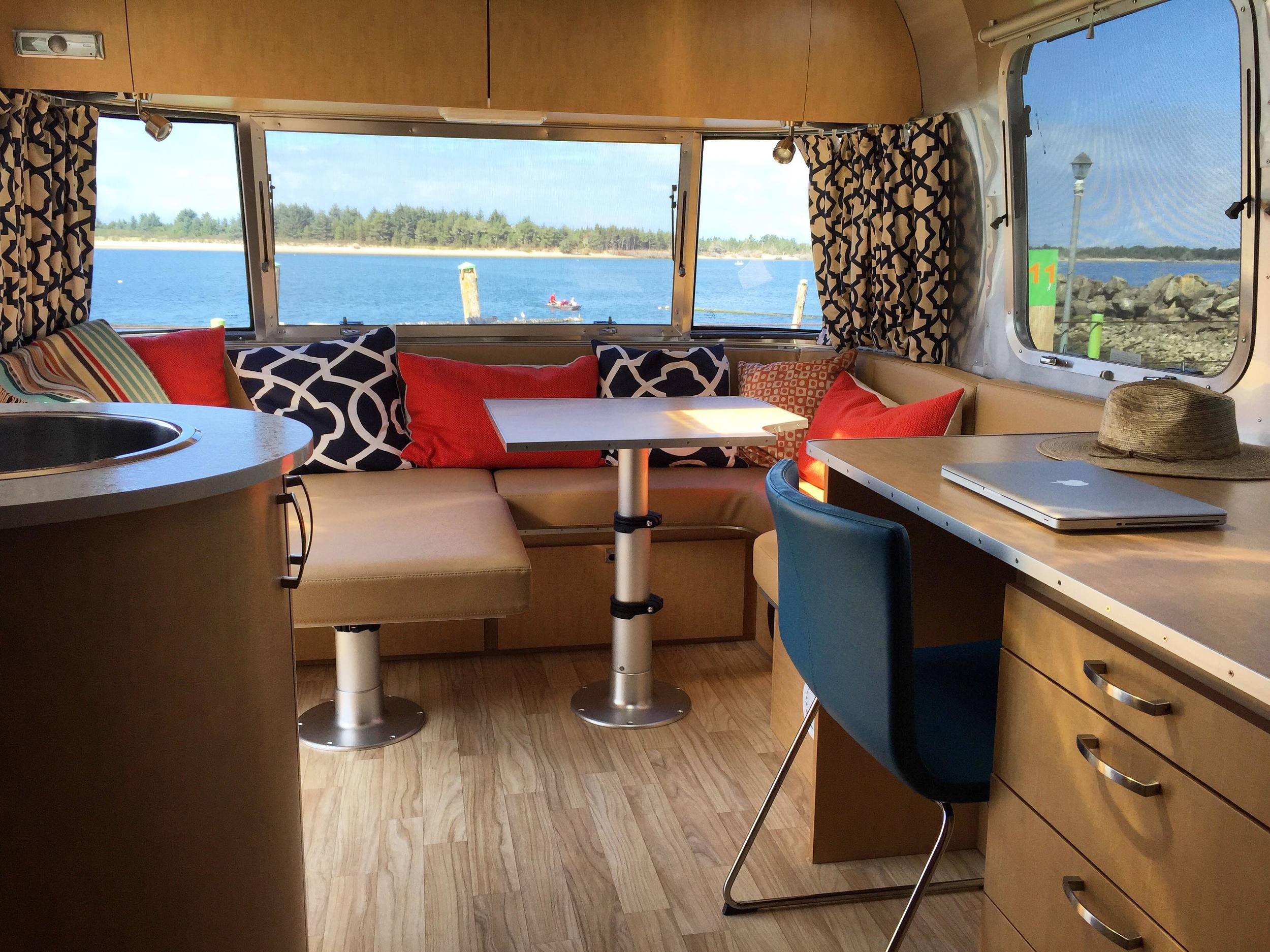 Our first weekend with the Airstream at Kelly's Brighton Marina on Nehalem Bay, Oregon Coast.