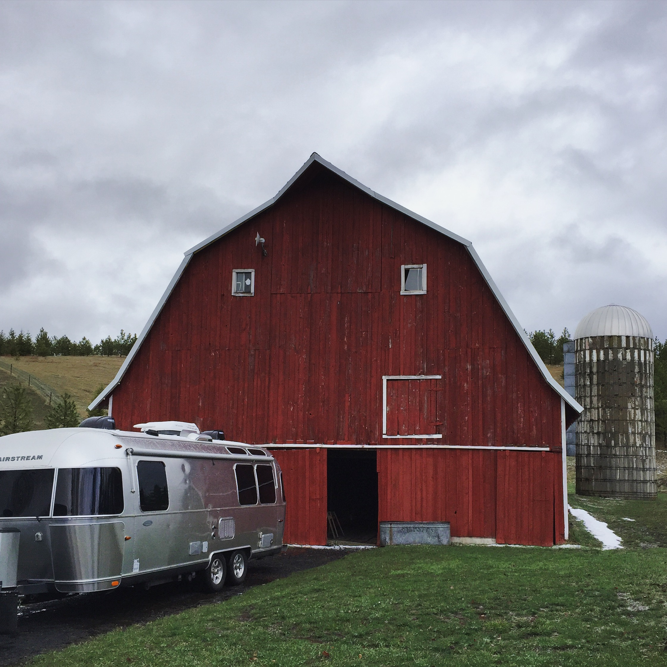 Seriously swoon-worthy barn outside of Moscow, Idaho (photo taken while dodging the hail storm).