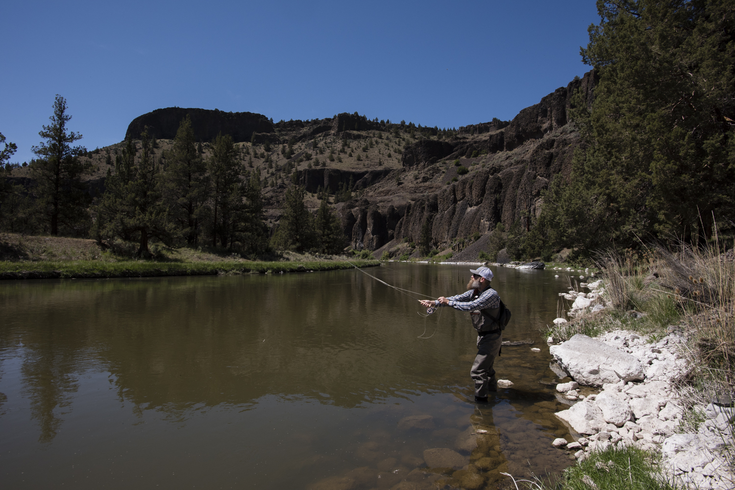 Perfect day for a little fly fishing.
