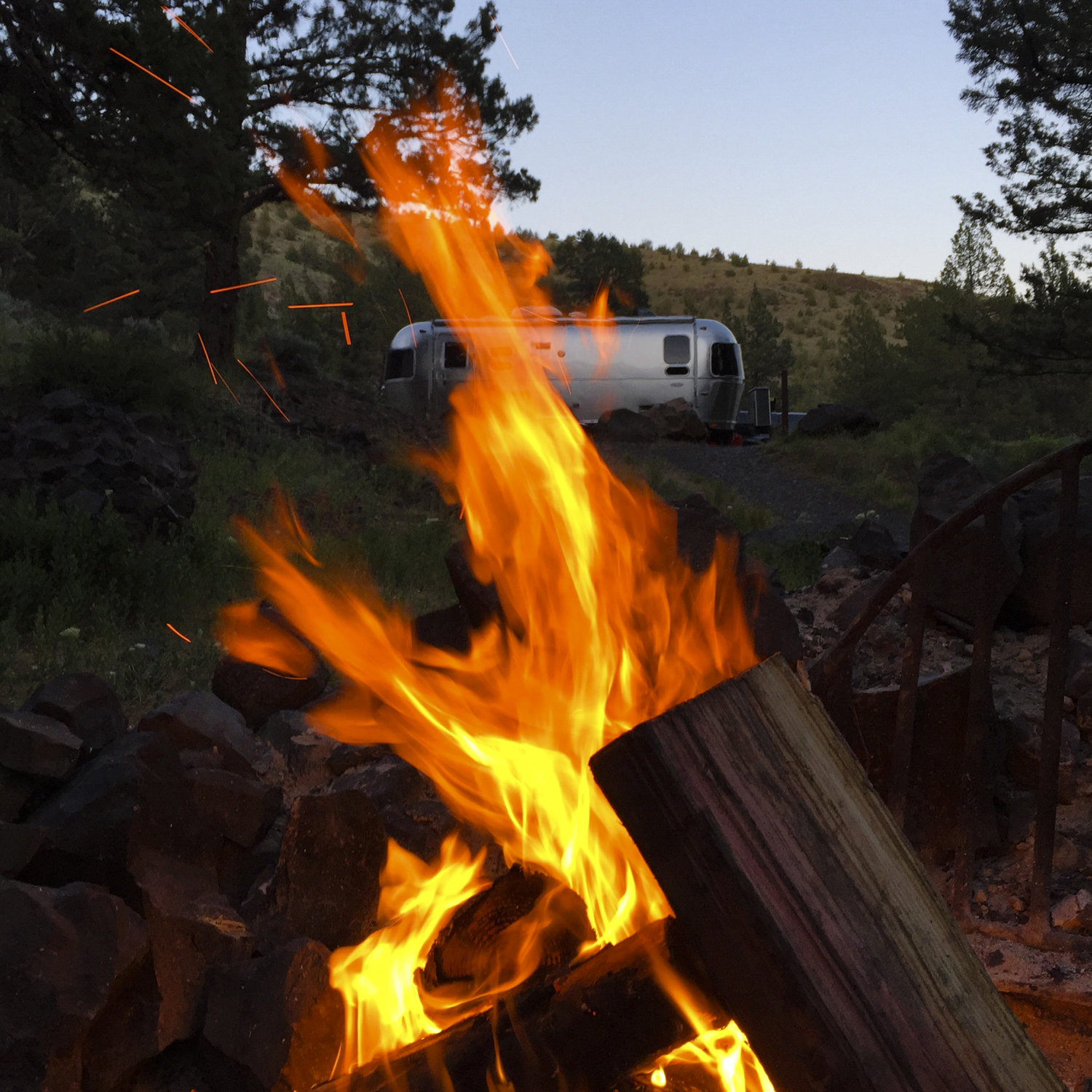 Campfires and Airstreams - two of our favorite things