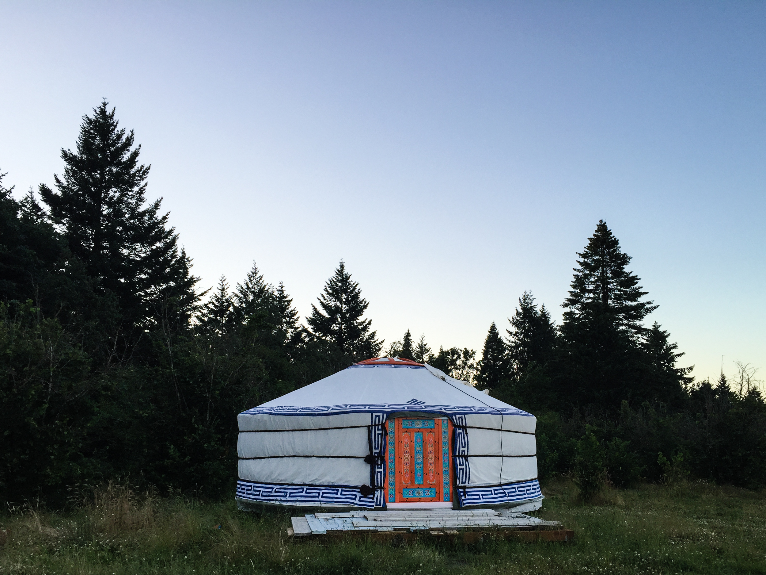 There's even a gorgeous yurt (direct from Mongolia!)