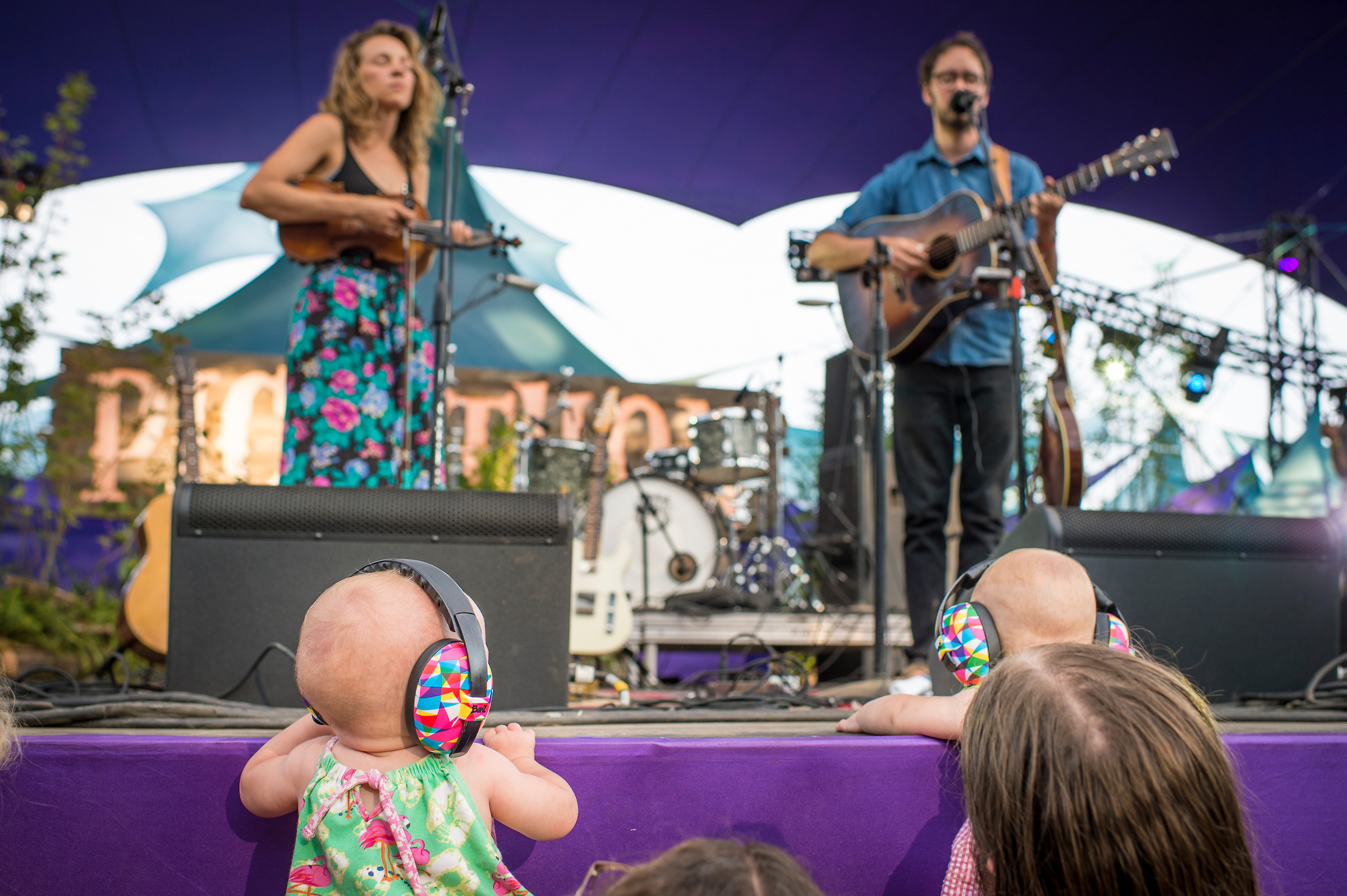 Twins and Mandolin Orange - can you get any cuter??  (photo by Bill)