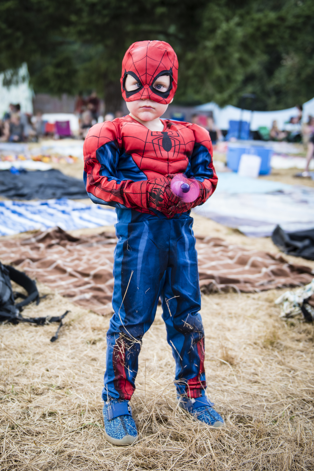 Even Spiderman loves Pickathon (photo by Heather)
