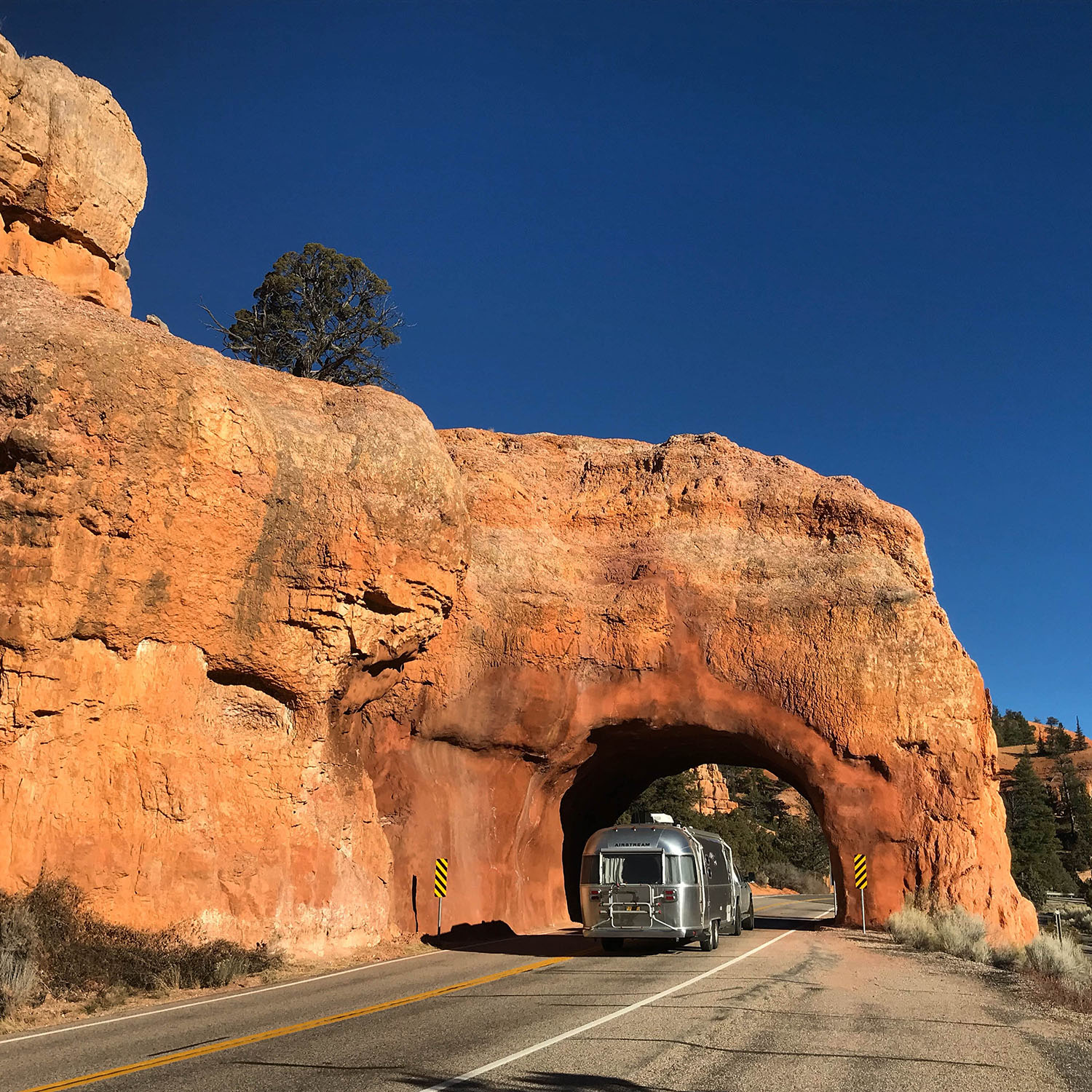 I had to get a classic Airstream tunnel shot at Red Canyon