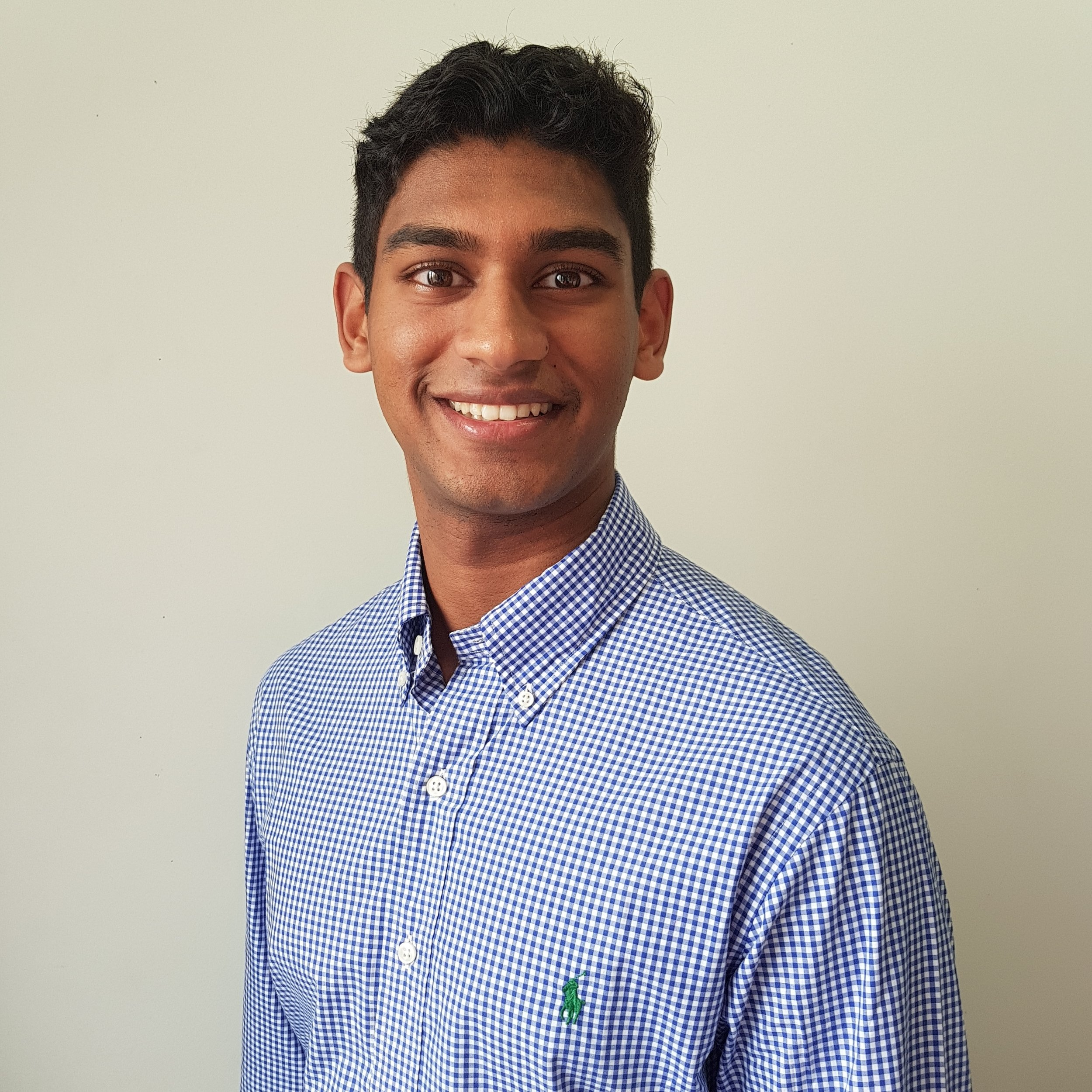 Raveen Dias - recipient of the 2018 Michael Wesseldine scholarship