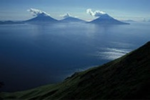 The Islands of the Four Mountains in the Aleutian Chain