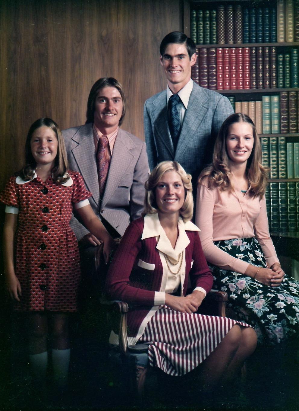 Family Photo - Craig, Ann, Cary, Karen, Kristen -1974