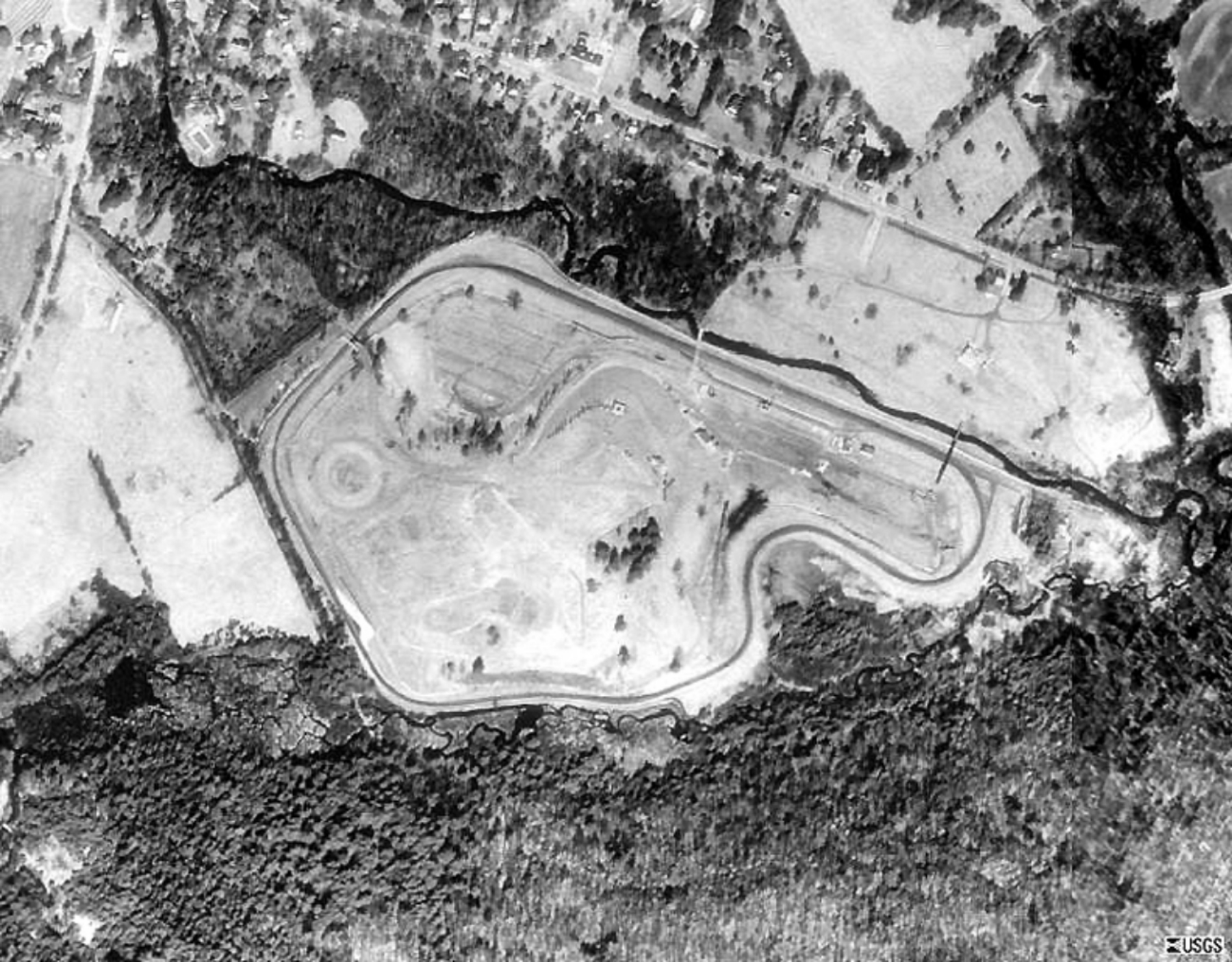 Aerial picture LIME ROCK PARK 1959