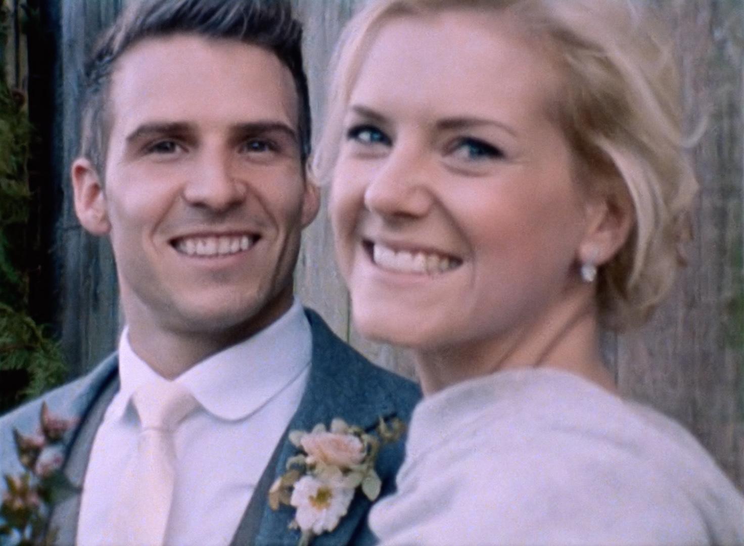 Nancarrow Farm Wedding Film Super 8 Bride Groom