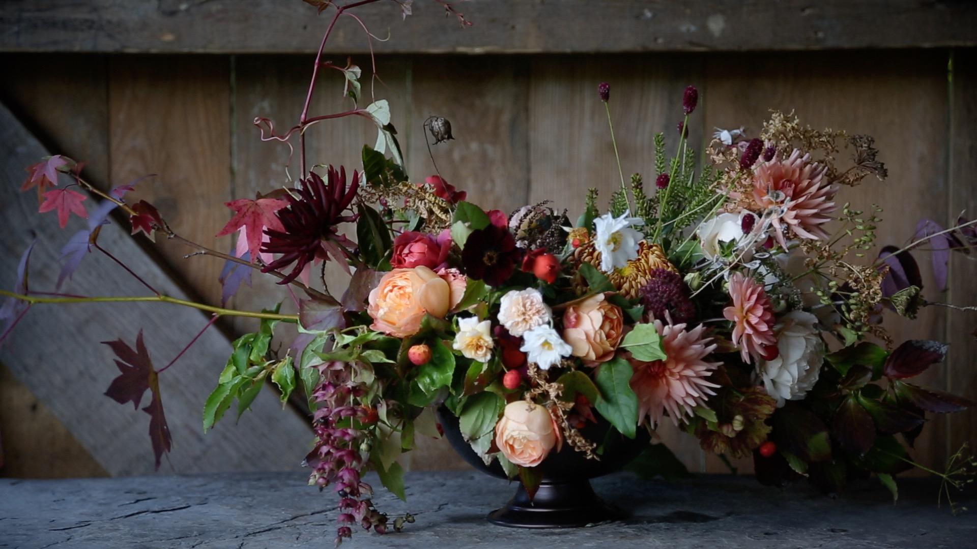 Nancarrow Farm Wedding Film Garden Gate Floweres