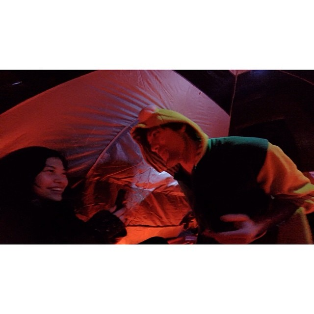 Makin' a new friend in #thetent @ 79 Lorimer st. #loftpartynyc shot on #gopro #thetentproject
