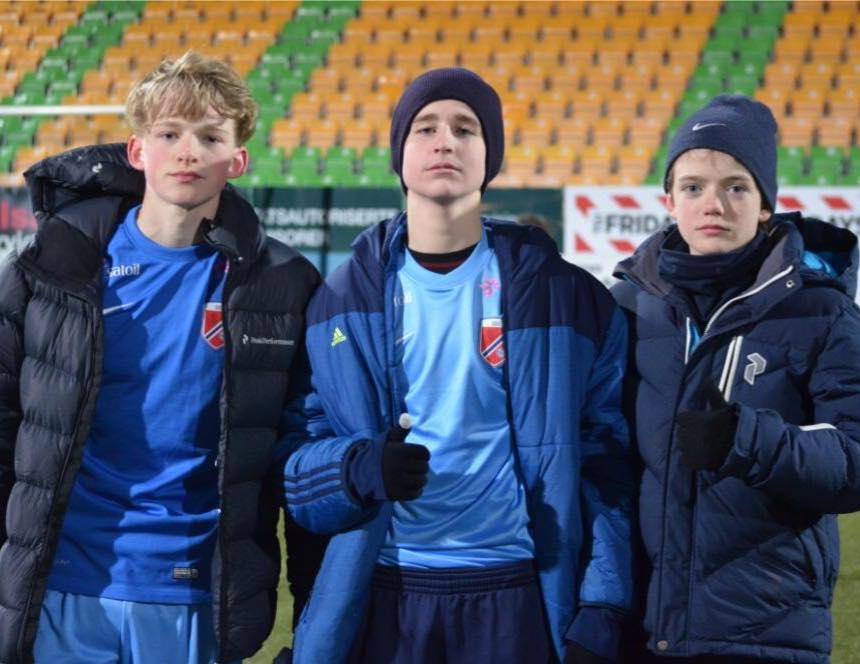 Tre av gutta som var opptatt med kretslagene til Oslo denne helgen.