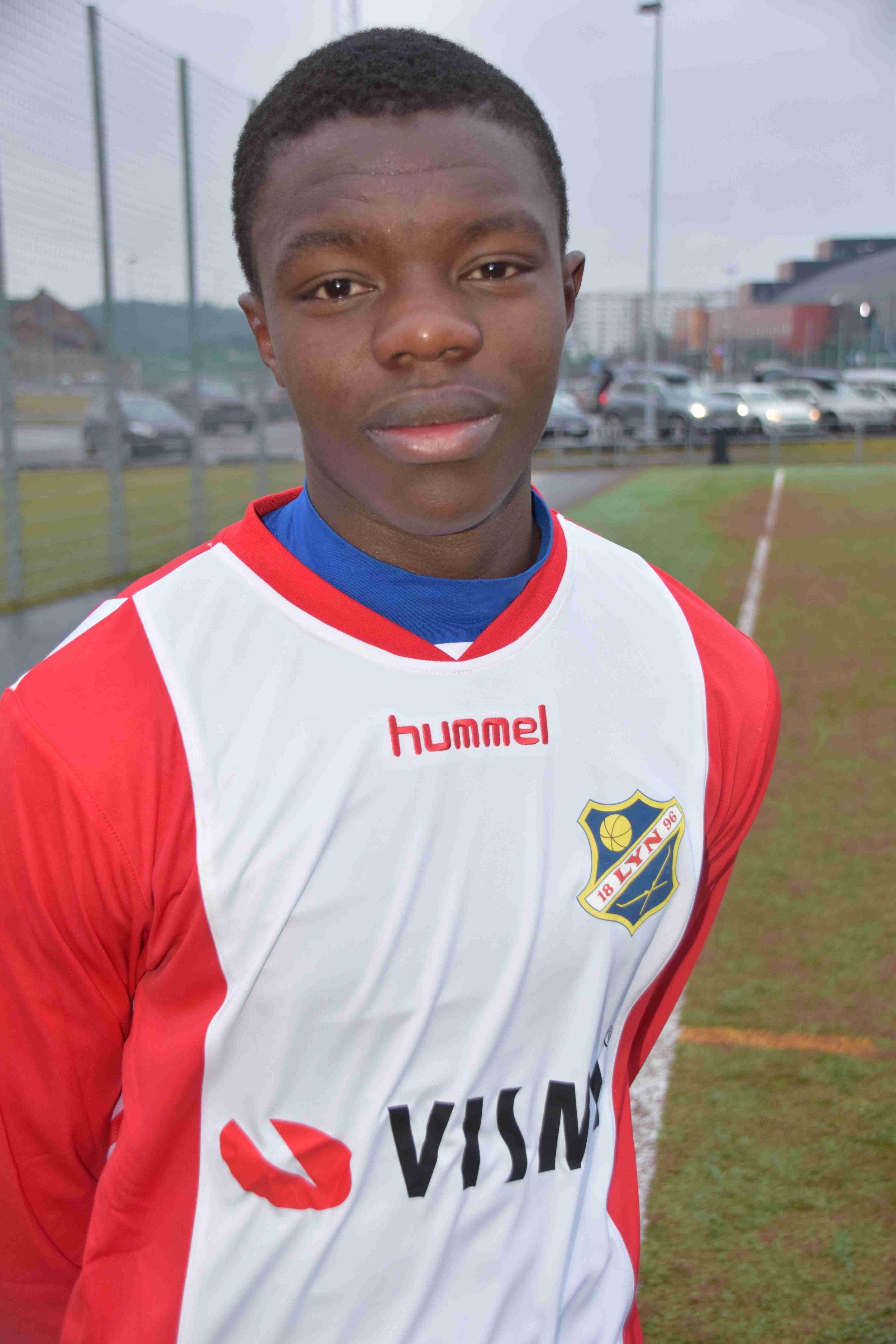 Bildet: Musa Lowe er en spennende spiller som kommer fra Årvoll G2002.