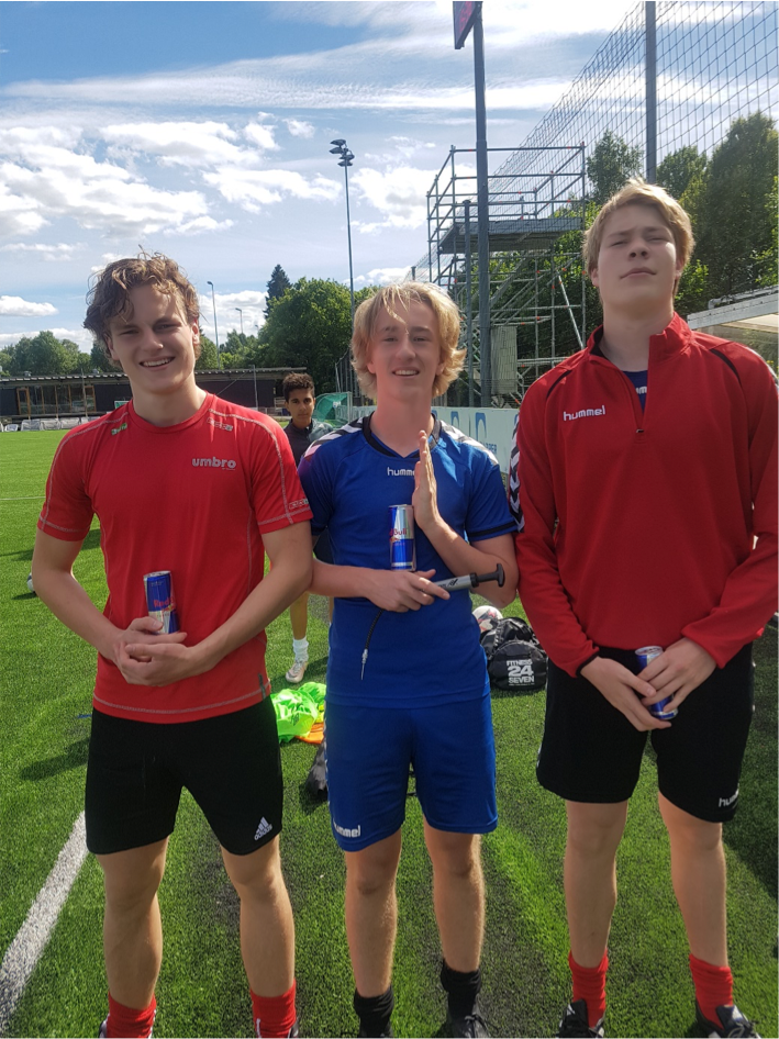1. plass (Halvor, Rasmus og Marius) -