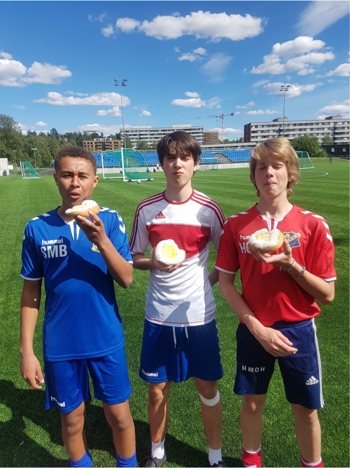 2. plass (Samuel, Jakob og Hans Olav) -
