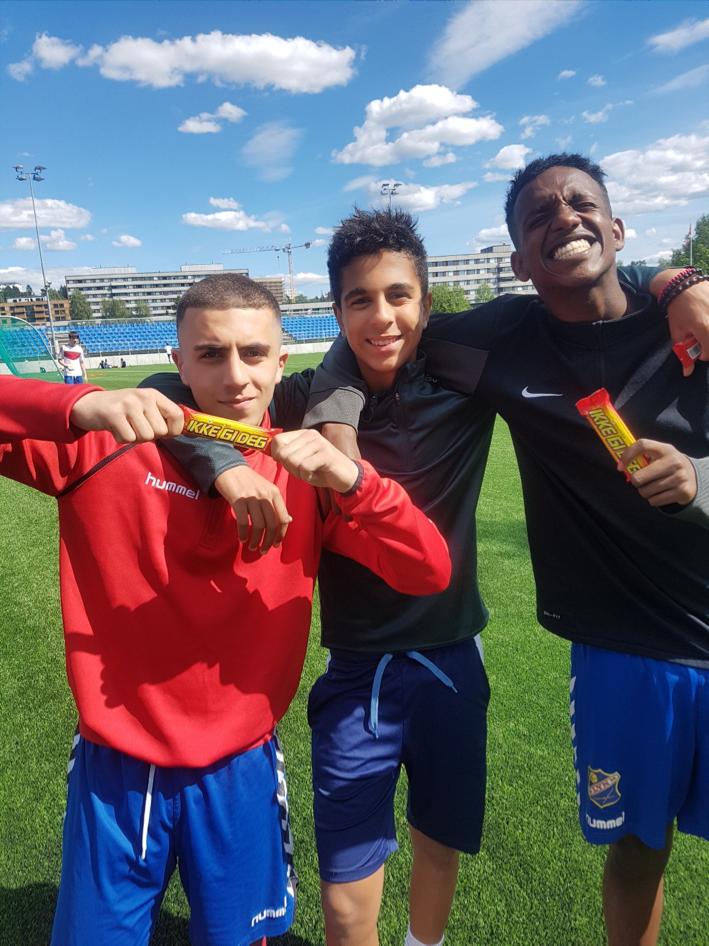 3. plass (Mohammed, Miles og Mohammed Ali) -