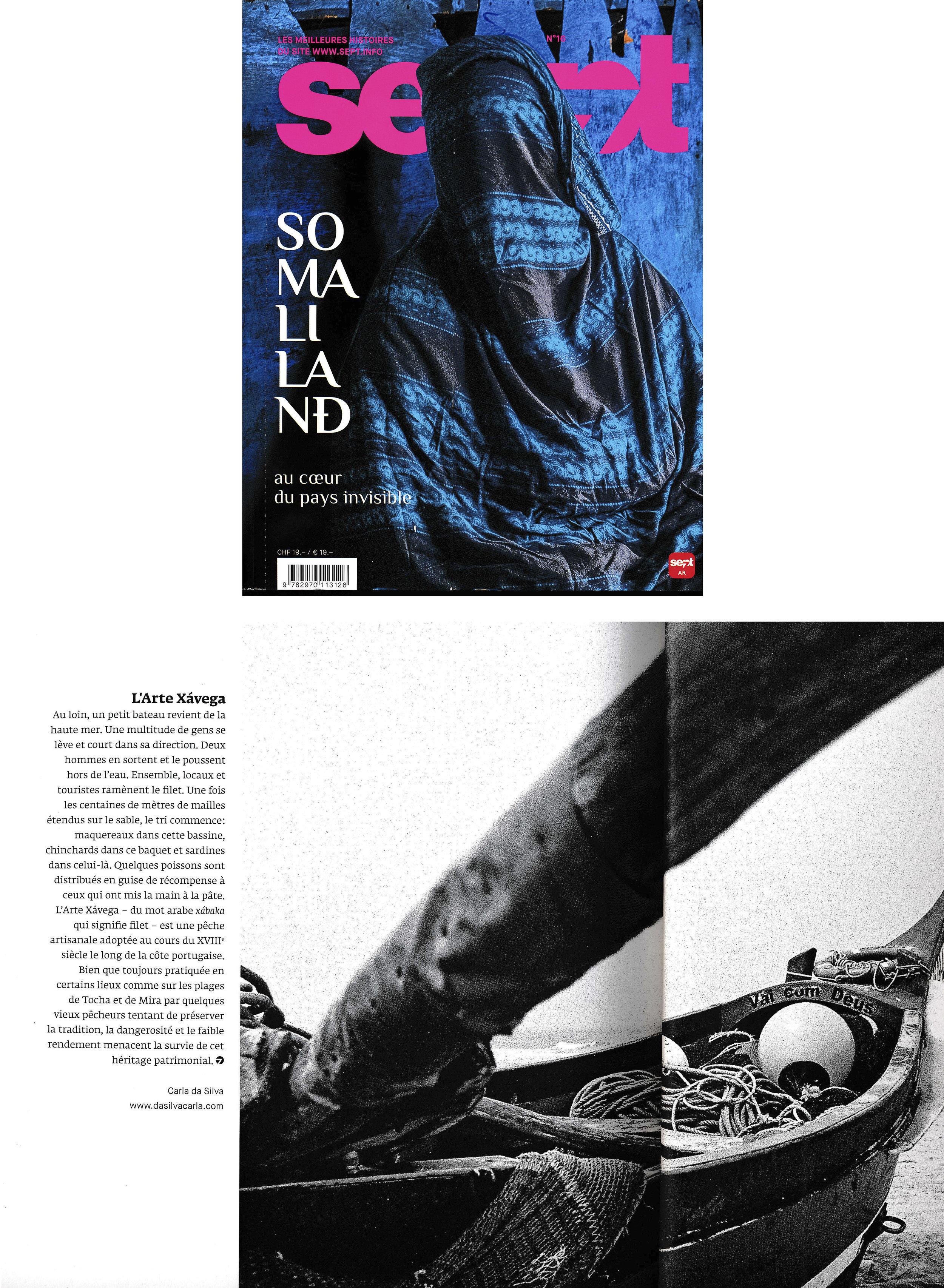 SEPT Magazine ,  Arte Xávega , mars-avril 2017.