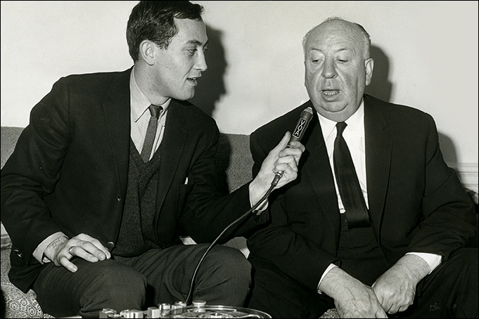 With Alfred Hitchcock