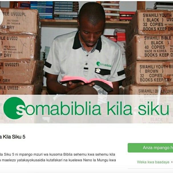 Je umegundua mpango wetu wa kusoma Biblia kila siku kupitia @youversion Bible app?  Download youversion Bible app kwa simu yako, na tafuta mpango wetu SOMA BIBLIA KILA SIKU  App ni bure. Na mpango wetu ni bure. . . . .  #youversionbibleapp #biblia #mpangowakusomabiblia #somabiblia #somabibliakilasiku