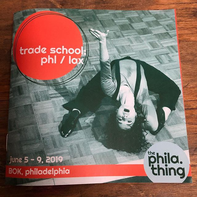 Proud to support new endeavors like @bishopstone's @philadelphiathing Trade School: PHL/LAX. We were a space for meetings, for printing, and for knowledge resources- join us!