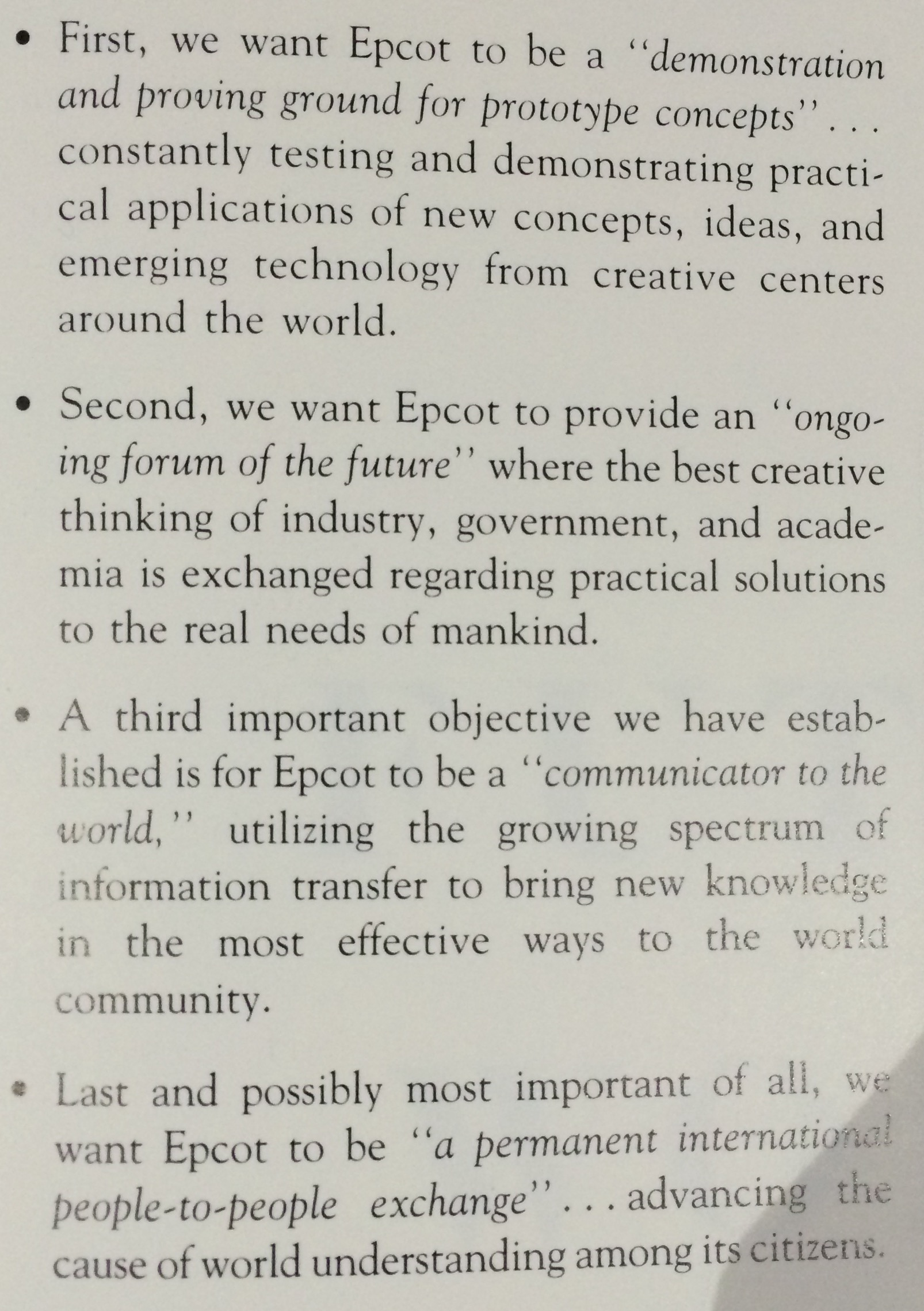 "From ""Walt Disney's Epcot: Creating the New World of Tomorrow"""