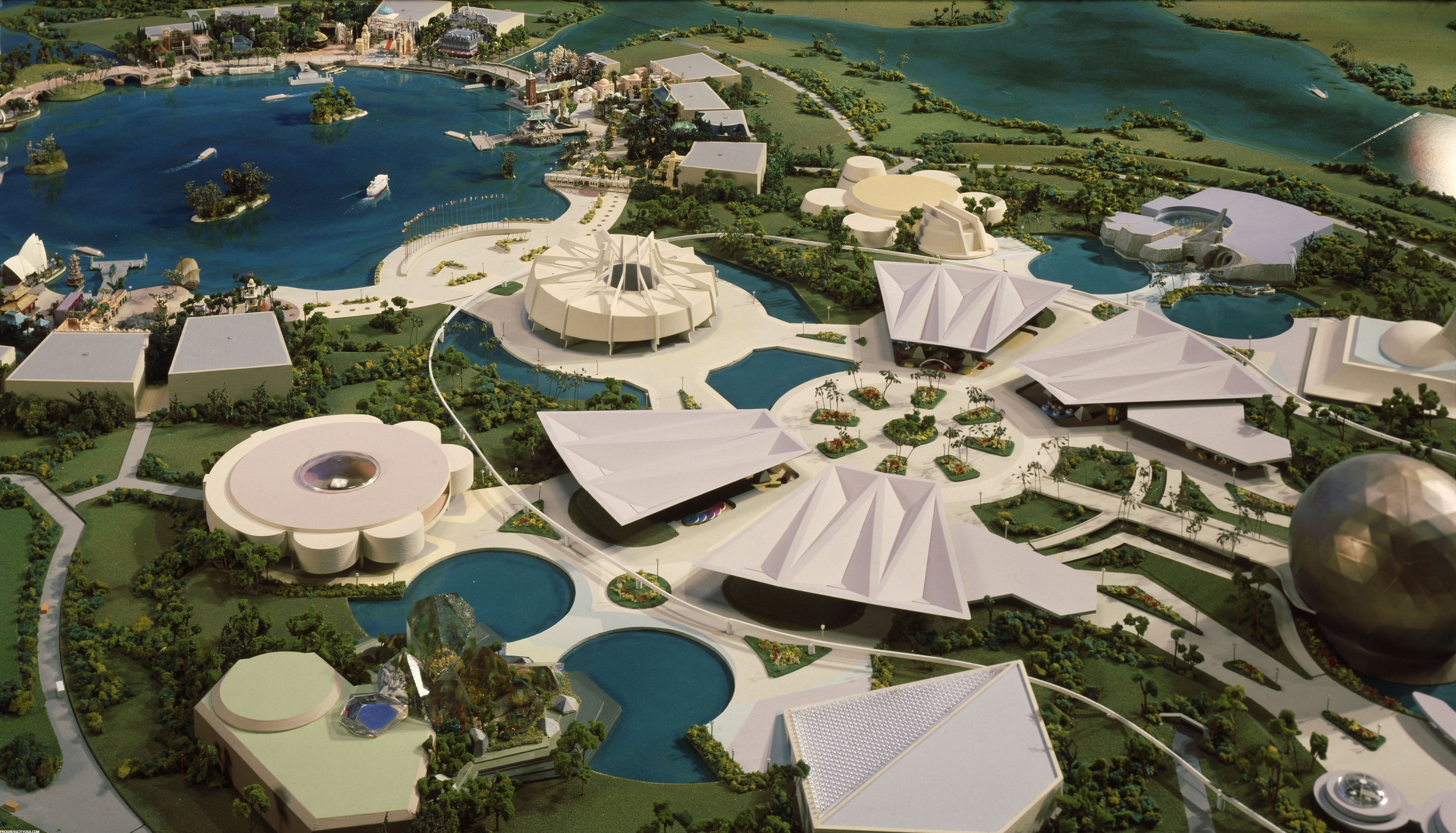 An early model of Epcot Center