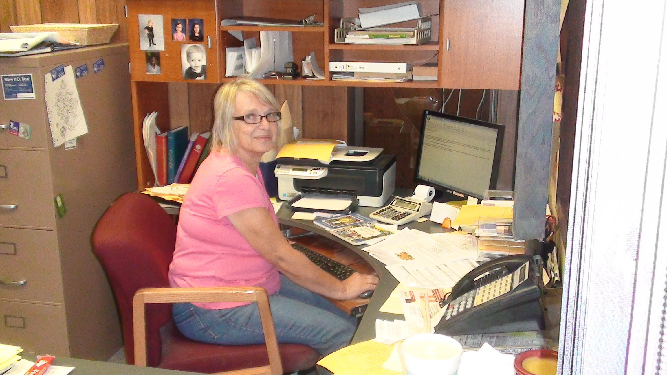 Office Manager Sharon Miller