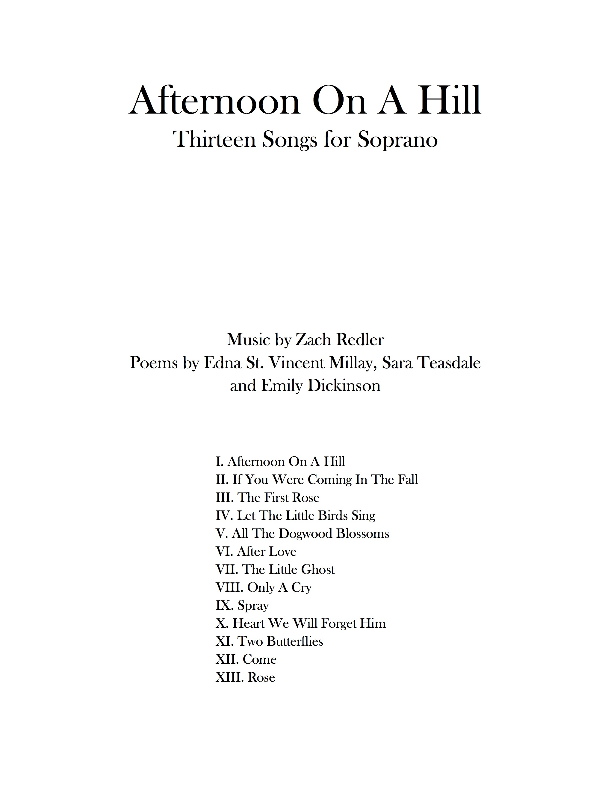 Afternoon On A Hill Title Page.jpg