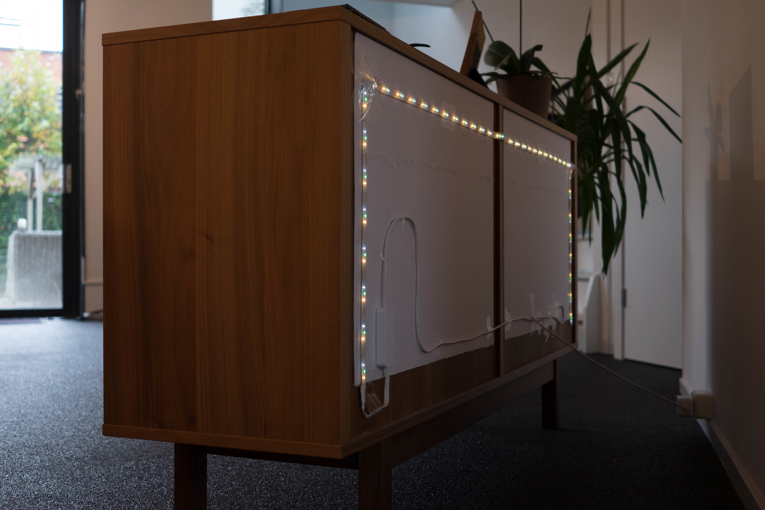 Lightstrip Plus Installation on sideboard