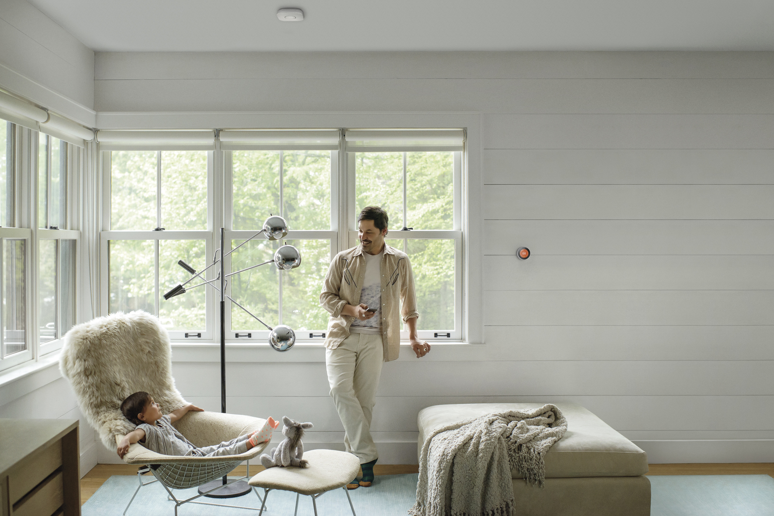 Nest Lifestyle inspiration with Thermostat and Smoke Detector - Photograph courtesy of NEST
