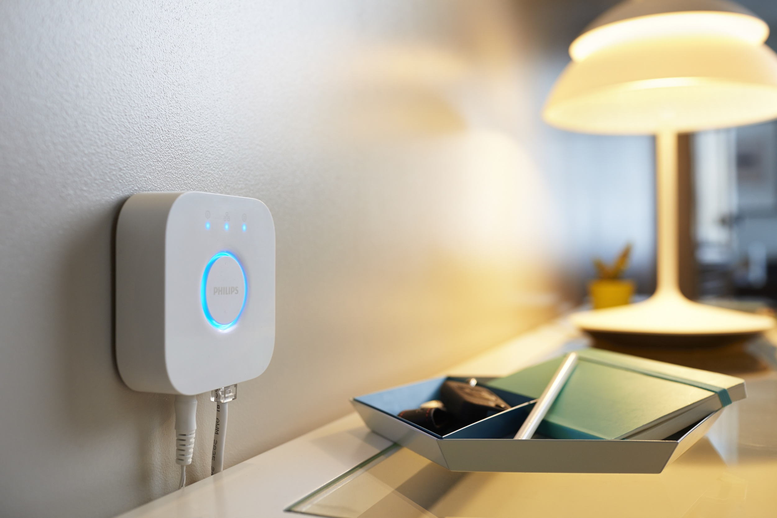 Philips Hue Bridge 2.0 - Photograph courtesy of Philips