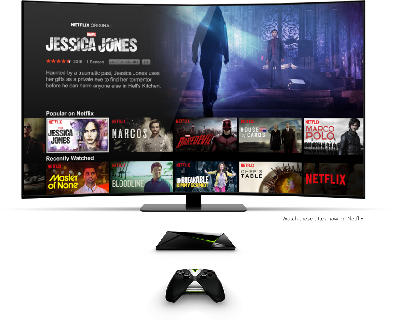 Netflix 4K and HDR is available on the NVIDIA Shield Android TV - PHOTOGRAPH COURTESY OF NVIDIA
