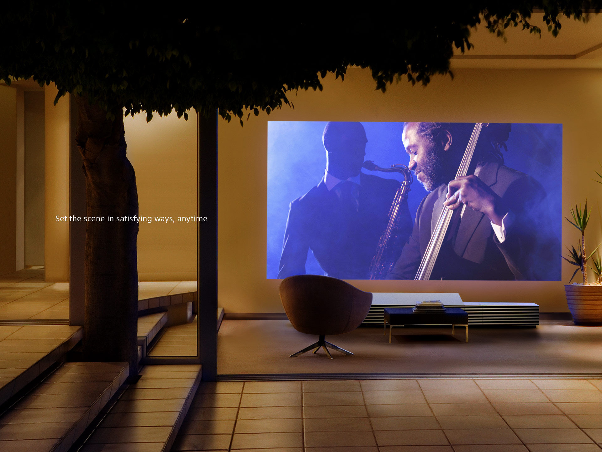 Sony LSPX-W1S ultra short throw projector - Photograph courtesy of Sony Corporation