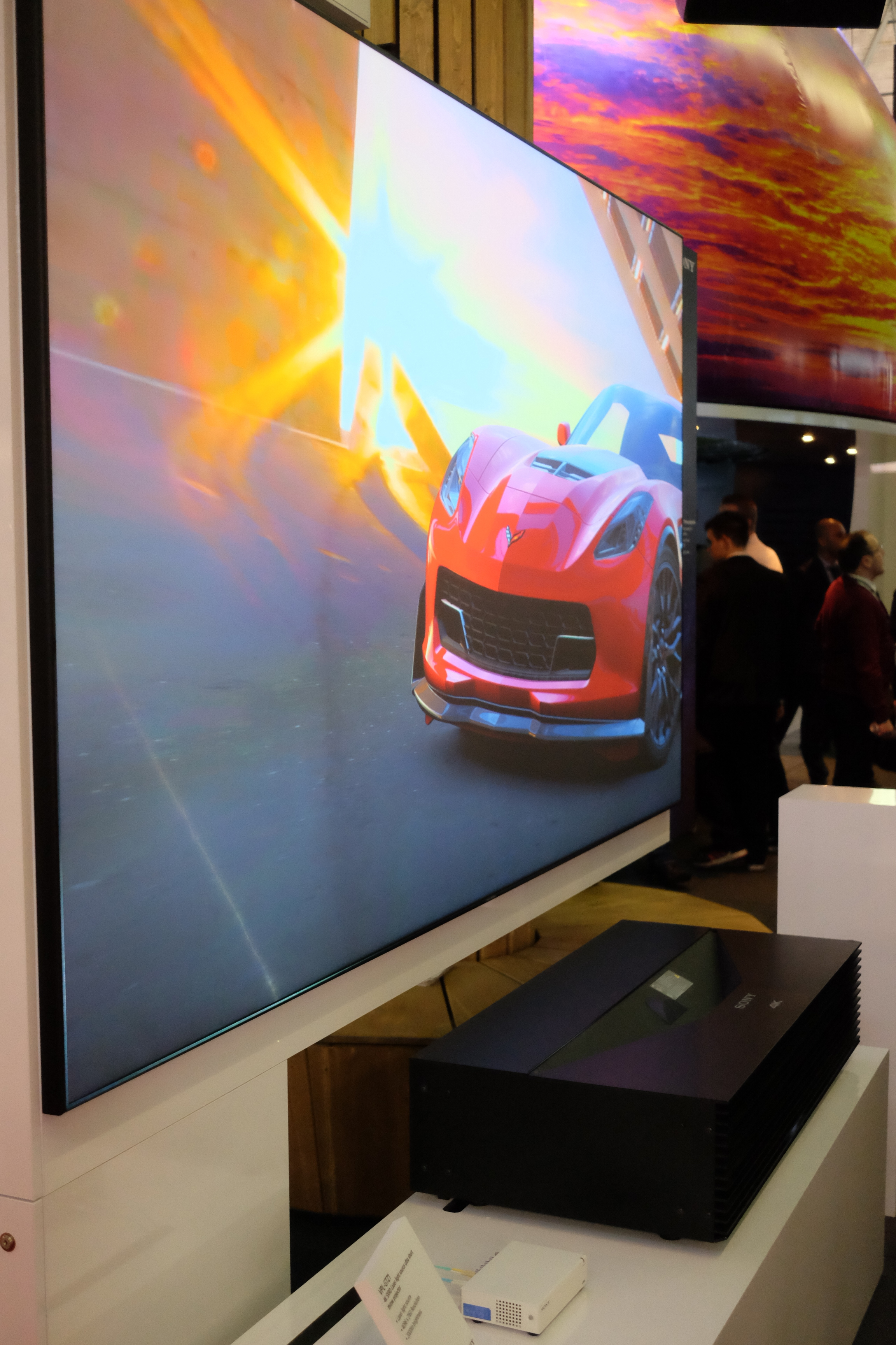Sony VPL-GTZ1 Ultra short Throw Projector ISE 2016 - Photograph Philippe Regnier